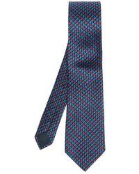 Lanvin Tie & Pochet Set - Blauw