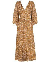 Faithfull The Brand Dress Nerisa Midi - Marrone