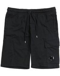 C P Company Sweatbermuda Cargo Shorts - Blauw
