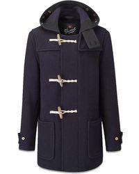 Gloverall Original Mid Monty Duffle Coat - Blau
