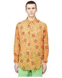 ERL Floral Check Shirt - Oranje