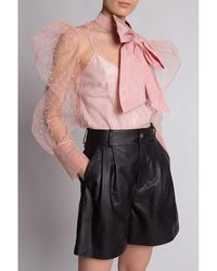 RED Valentino Top with decorative bow Rosa