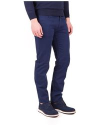 Trussardi Pants 5 Pockets 380 Icon Twill Stretch - Blauw