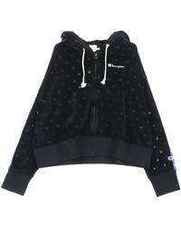 Champion Felpa Cappuccio Hooded Sweatshirt - Zwart