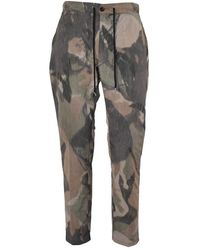 Department 5 Department 5 Pantaloni Bruc Camouflage - Verde