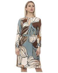 Alpha Studio Tabacco Dress - Blau
