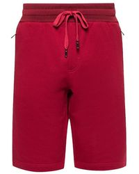 Dolce & Gabbana Logo Gepatched Shorts - Rood