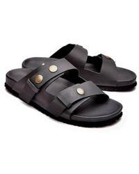 Henderson Cowhide Sandal - Zwart