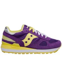 Saucony Women's Shoes Suede Trainers Sneakers Shadow Original - Paars