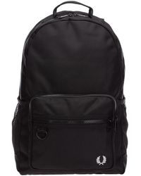 Fred Perry Rucksack Backpack Travel - Zwart