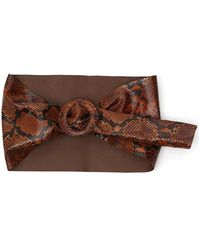 The Attico Wide snakeskin-effect belt - Marron