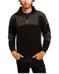 Topo Global 1/4'' Zip Up Sweatshirt - Schwarz