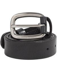 Golden Goose 's Houston Leather Belt - Zwart