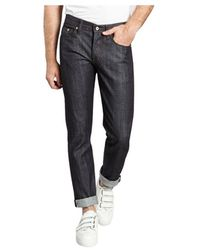 Naked & Famous Weird Guy – Stretch Selvedge Jeans - Blauw