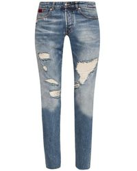 John Richmond Sid Jeans With Rips - Blauw