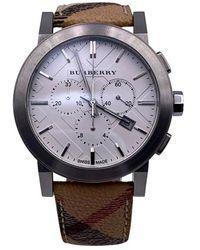 Burberry Nova Check Bu9360 Unisex-Chronograph-Uhr - Braun