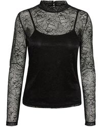 Noisy May Nmlili High Neck TOP - Nero