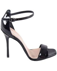 Marc Ellis Patent Leather Sandals With Anklet - Zwart