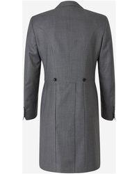 Canali Wool Morning Coat Gris