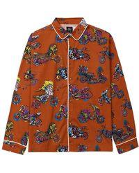 Brain Dead Moto Pajama Top - Oranje