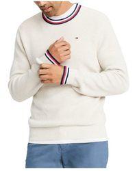 Isabel Marant Sweater Crewneck Striped-trim - Naturel