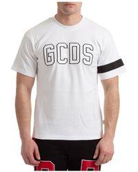 Gcds T-shirt Logo - Blanc