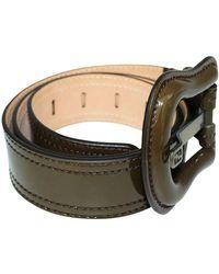 Fendi Vintage Patent Belt - Vert