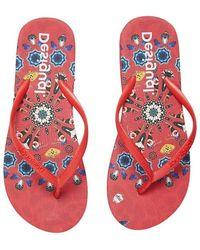 Desigual Flip Flops - Rood