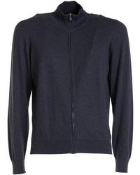 Corneliani Sweater with zip - Gris