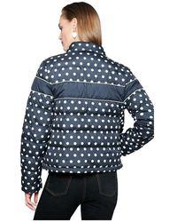 ESCADA Printed Down Jacket Azul - Negro