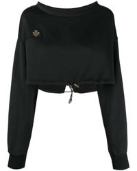 Mr & Mrs Italy Cropped sweatshirt - Noir