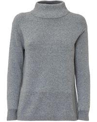 Calvin Klein Mock Neck Sweater - Grau