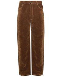 Jacquemus Velvet Trousers - Bruin