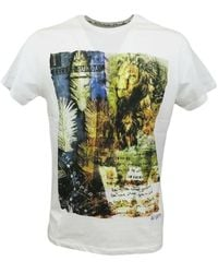 40weft T-shirt con stampa Lion Except Sunday Blanco