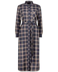 French Connection Checked Shirt Dress - Blauw
