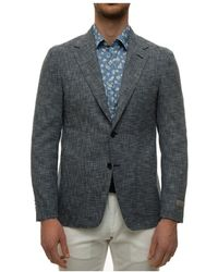 Canali Jacket with 2 buttons - Bleu