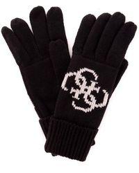Guess Am8582wol02 Gloves Men Black - Zwart
