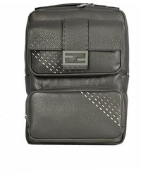 Fendi Fit Cuoio Roma Backpack - Grijs