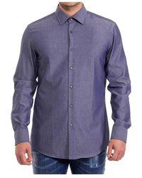 BOSS by Hugo Boss Swiss Slim Fit Shirt With Jango Pattern - Blauw