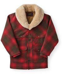 Filson Lined Wool Packer Coat - Rood