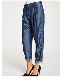 GAUDI Loose fit trousers Azul