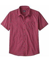 Patagonia Short Sleeveshirt - Rood