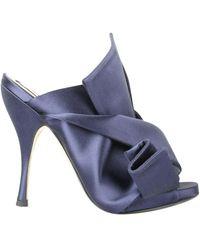 N°21 Satin Open Toe Heels Sandals - Blauw