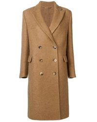 Ermanno Scervino Double-breasted Coat - Bruin