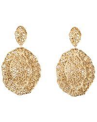 Aurelie Bidermann Dentelle Vintage Gold Plated Dangling Earrings - Geel