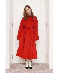Custommade• Cappotto con cintura Rojo