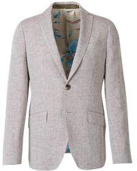 Etro Straight Linen Blazer - Naturel