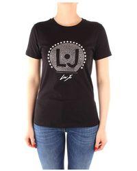 Liu Jo Ca0199j5884 Short Sleeve T-shirt - Zwart