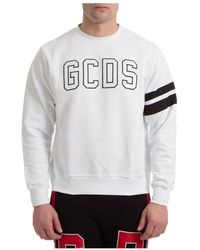 Gcds Sweatshirt Logo - Bianco