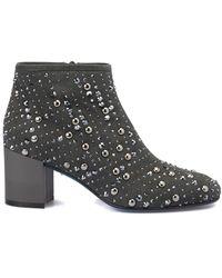 Loriblu Suede Studded Ankle Boot - Grijs